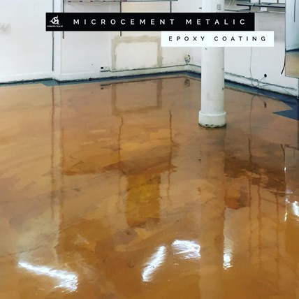 Microcement med epoxycoating